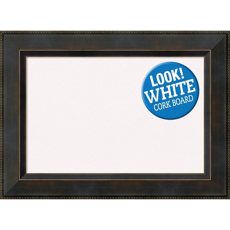 Amanti Art Framed White Cork Board, Signore Bronze (large - 33 x 25 ...