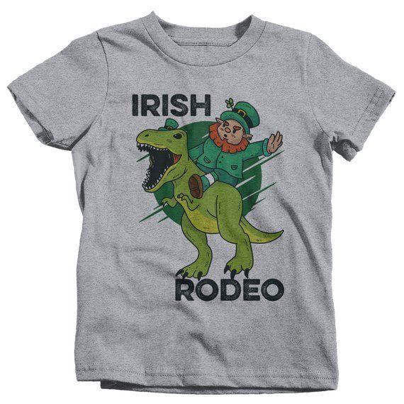 a1456067 Kids Funny Leprechaun T-Shirt Irish Rodeo T-Rex Shirts Graphic Tee Dinosaur  Tshirt Hipster TShirts Toddler Tees