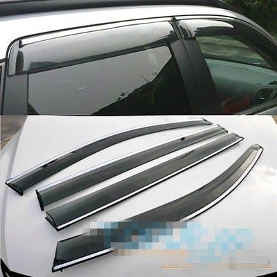 FOR Mitsubishi OUTLANDER WINDOW RAIN VISOR WIND DEFLECTOR WEATHERSHIELDS DOOR GUARDS & FOR Mitsubishi OUTLANDER WINDOW RAIN VISOR WIND DEFLECTOR ...