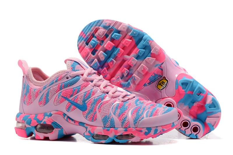 8dc5e6a8250 Best Sell Nike Air Max Plus TN Ultra Pink Blue Camouflage 898015-025 Women s  Sneakers