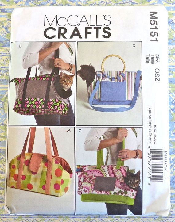 McCalls 5151 Pet Carrier Pattern Four Variations by Fragolina ...
