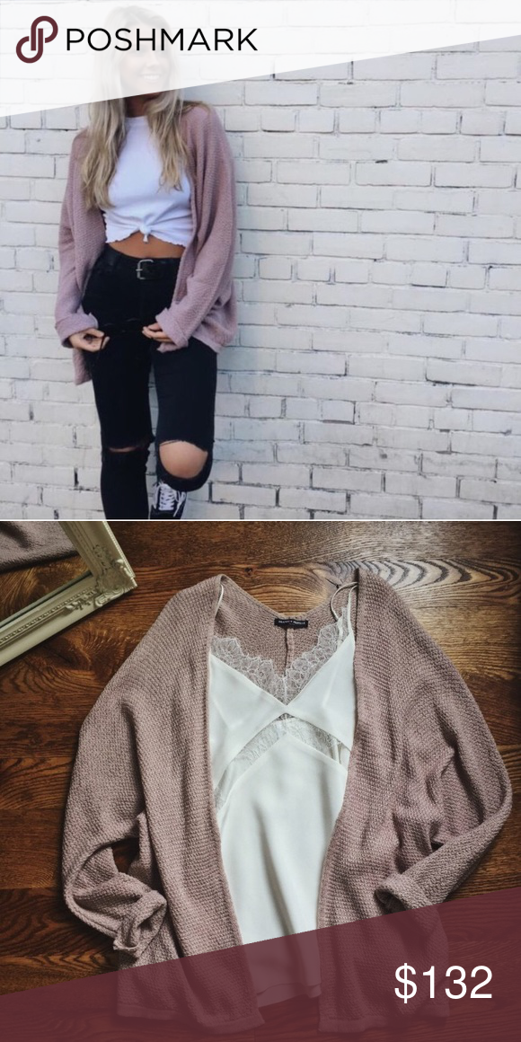 9be825dd0 Authentic blush Brandy Melville Caroline cardigan Never ended up ...