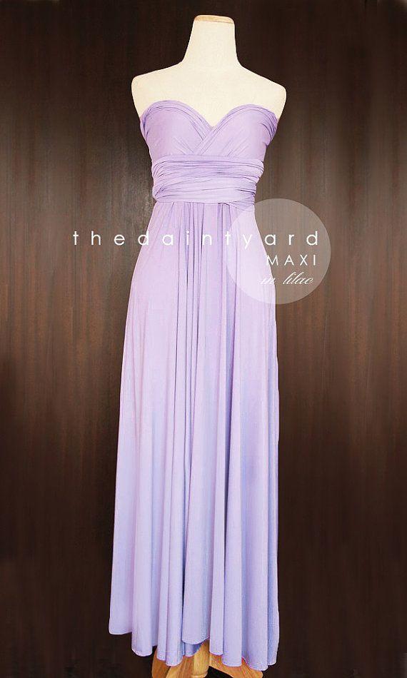 86299c9b10 MAXI Lilac Bridesmaid Convertible Dress Infinity Dress Multiway Dress Wrap  Dress Light Purple Pastel Wedding Dress Long Full Length