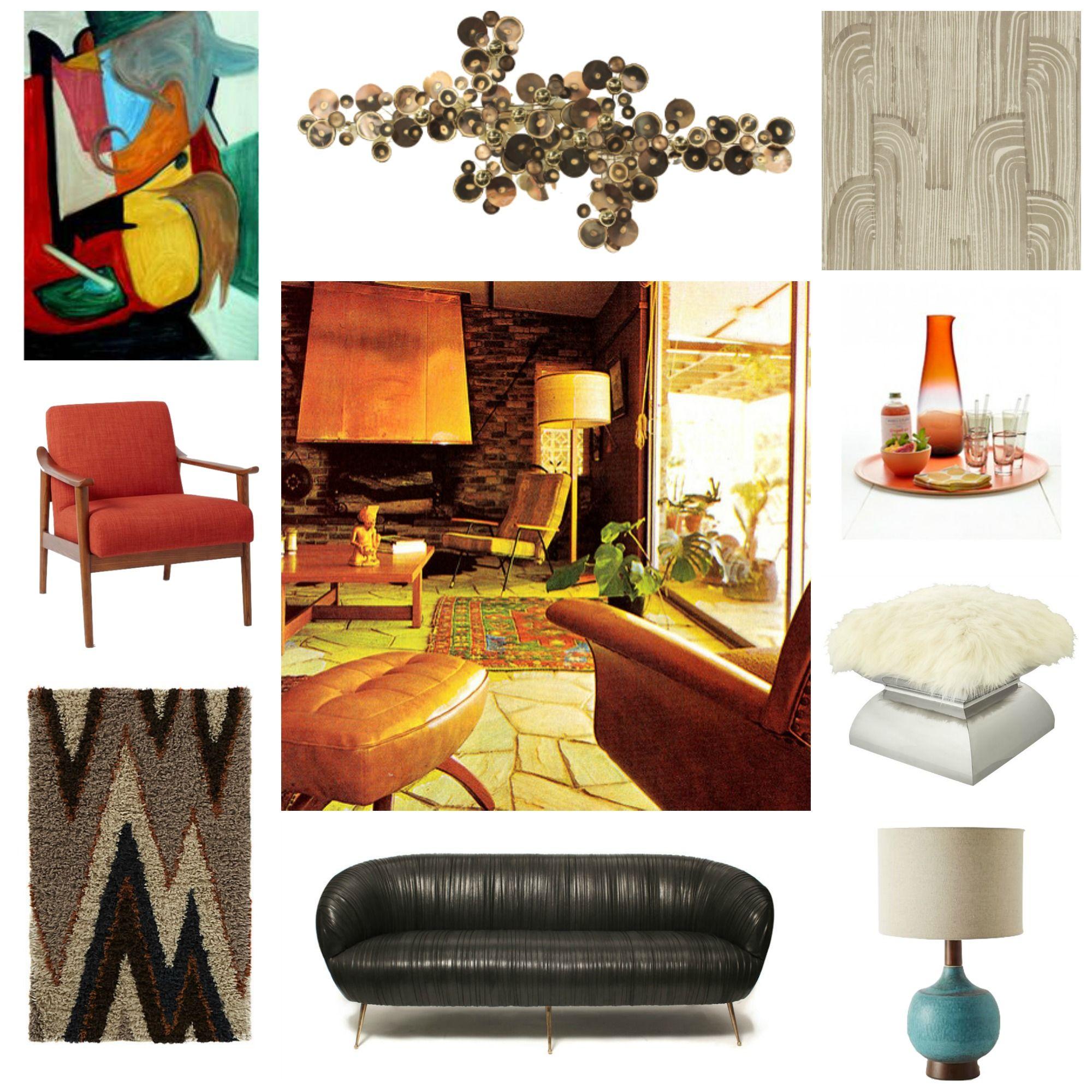 Get The Look 70S Inspired Living Room Kravitz Design +