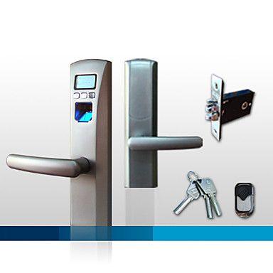Stylish Biometric Fingerprint Door Lock with Deadbolt and LCD Display – USD $ 199.99
