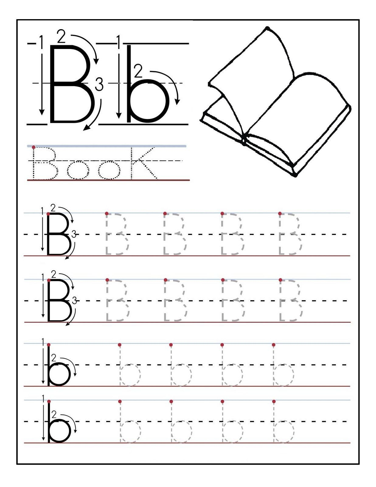 Trace The Letters Worksheets In