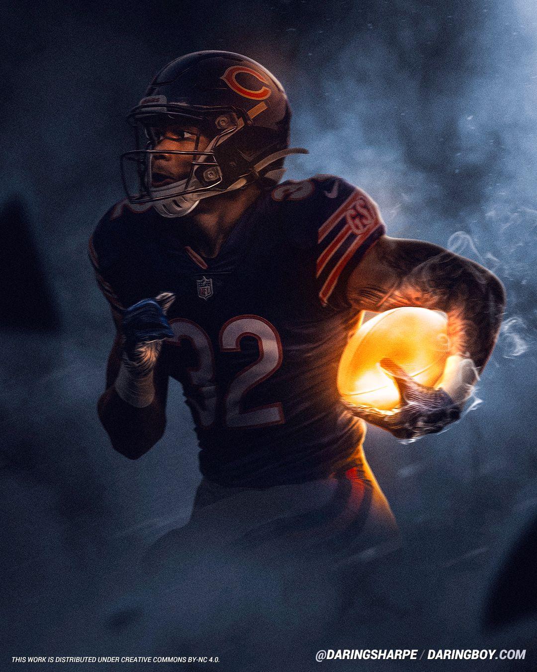 David Montgomery Chicago Bears Chicago Bears Pictures Chicago Bears Wallpaper Chicago Bears Football
