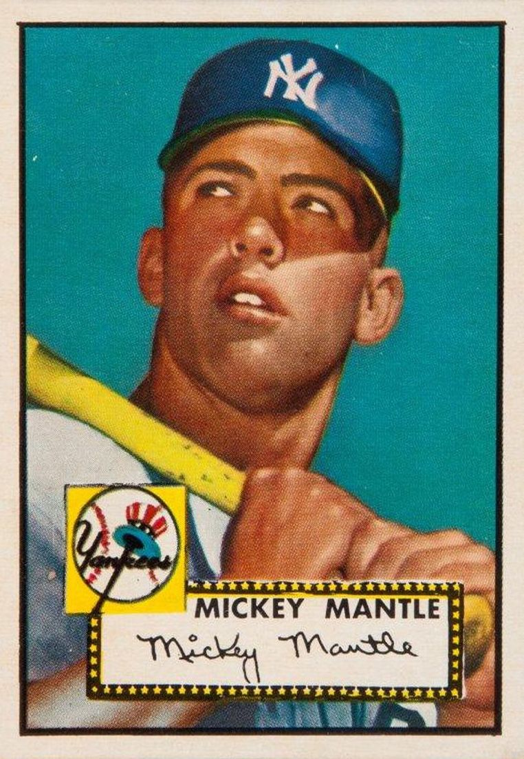 1952 Topps Mickey Mantle Rookie Card Collectibles I Would