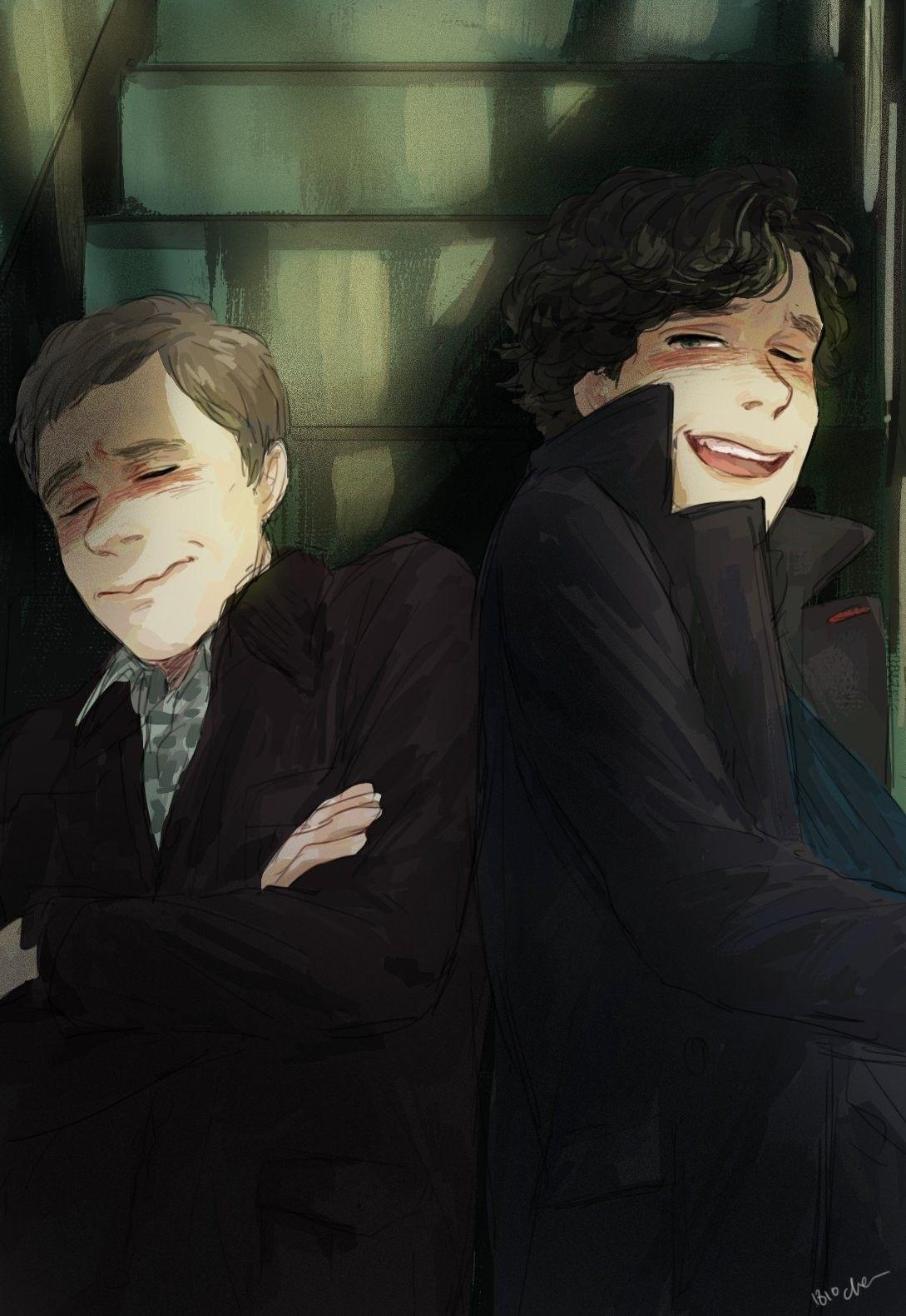 Шерлок и ватсон арты