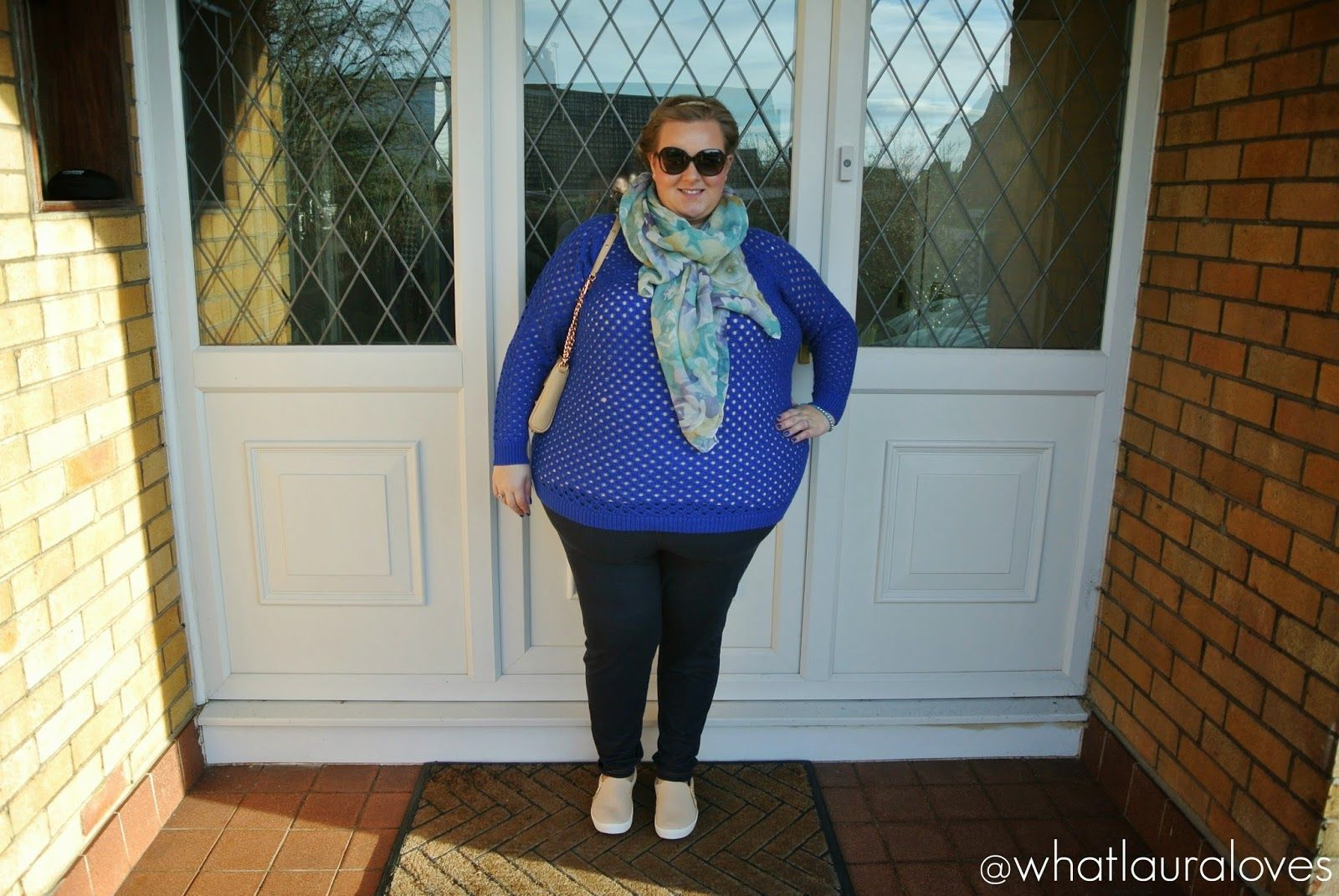 e892adb9273 What Laura Loves  WhatLauraWore  Plus Size Eyelash Jumper