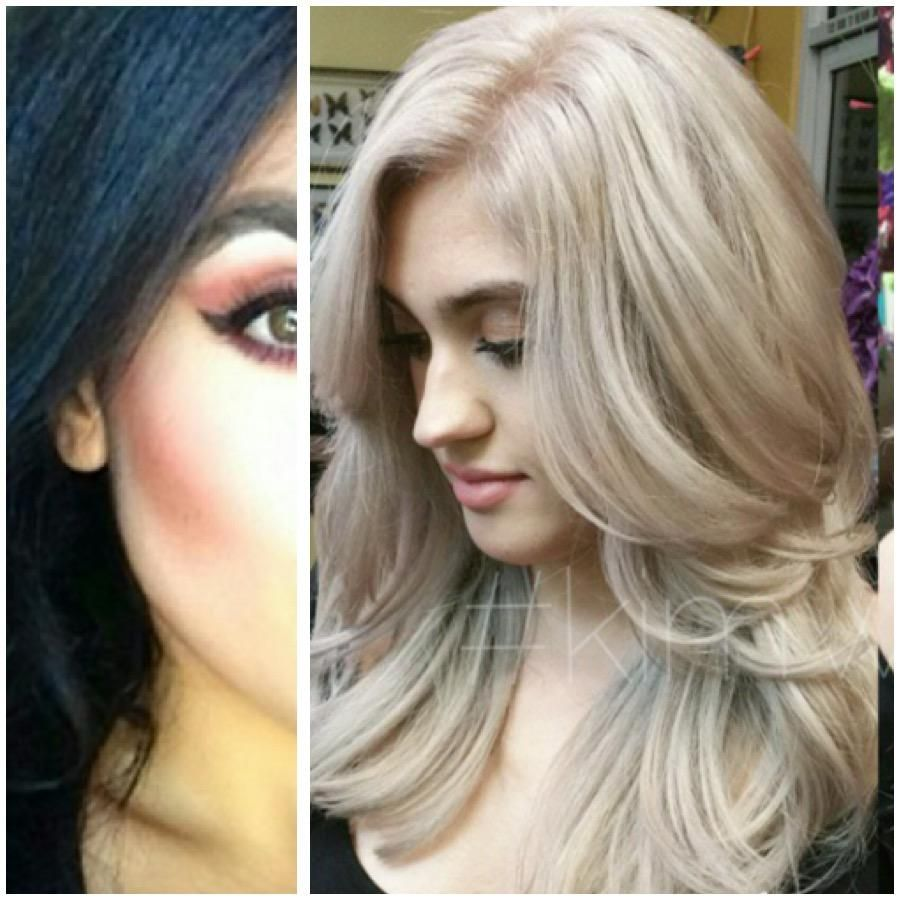 Formula From Black Box To Silver Lilac Blonde Olive Skin Blonde