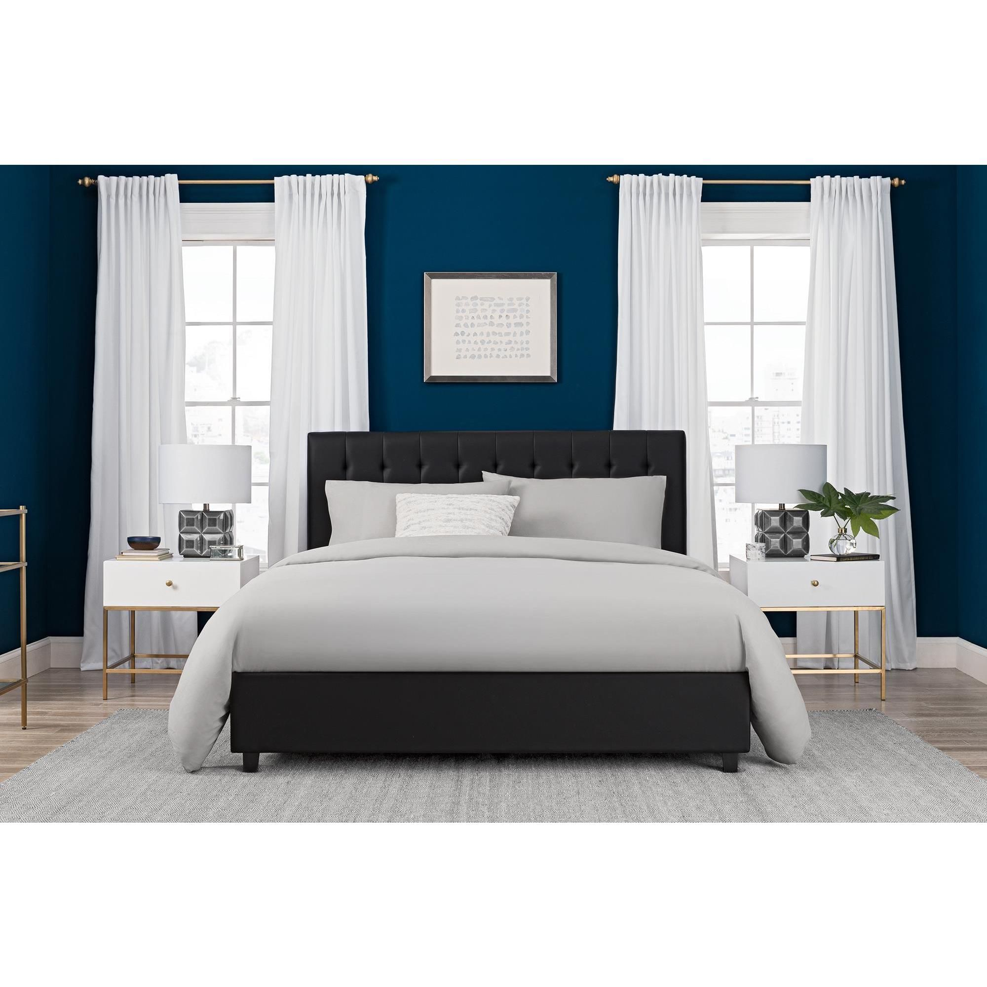 DHP Emily Faux Leather Upholstered Bed