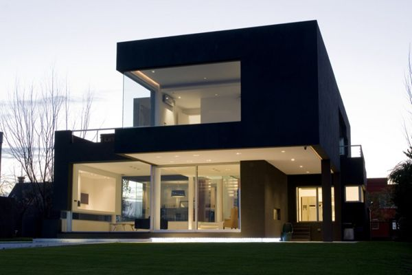 Modern Black House On The Lake Modern Minimalist House