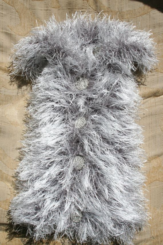 Furry Dog Clothes Hand knit Dog Sweater Pet clothing XXS Dog hoodie ...