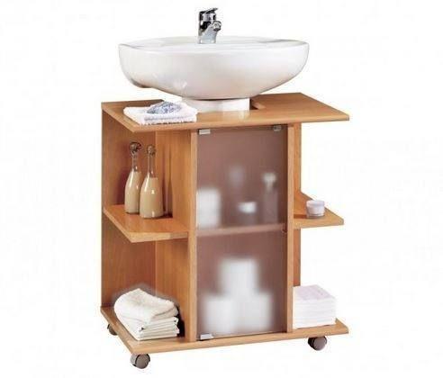 Baños pequeños como ganar espacio - muebles con pedestal ideas - muebles para baos pequeos
