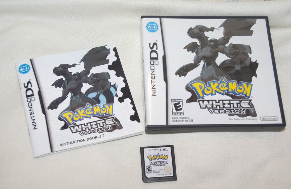 pokemon white version nintendo ds game w box manual tested works rh pinterest com nintendo ds game manual scans nintendo ds games manuals pdf
