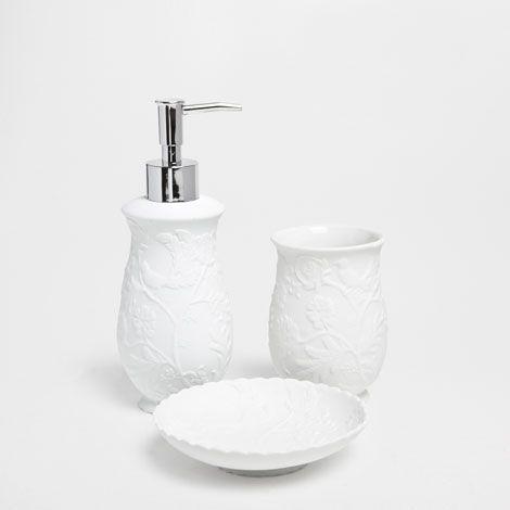 Accessoires De Bain Porcelaine Relief Accessoires Bain Zara Home France Bathroom Sets Zara Home Bathroom