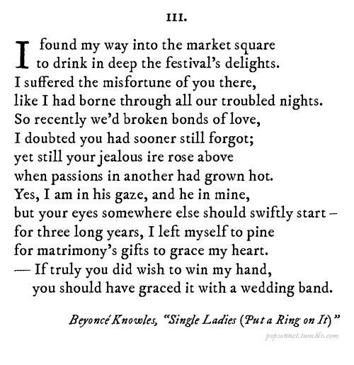 Your Favorite Pop Songs Reimagined As Shakespeare Sonnets