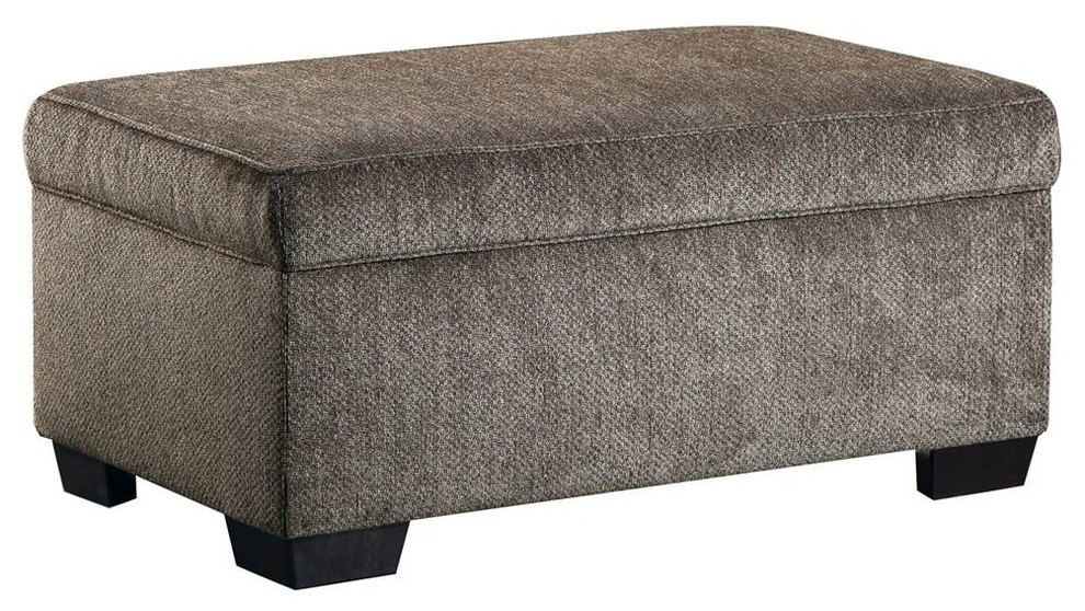 Amazing Storage Ottoman In Harlow Ash Transitional Footstools Short Links Chair Design For Home Short Linksinfo