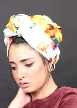 Flower Syle Turban in Floral