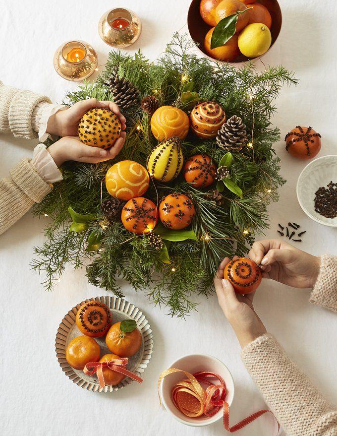 Comment faire une pomme d'ambre avec des oranges et des clous de girofle ? #fooddiy