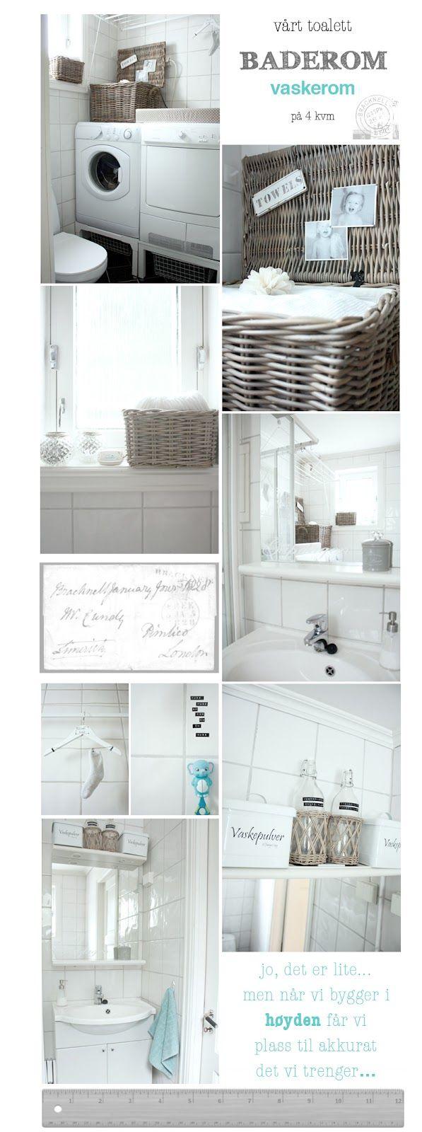 Flere bilder av lite bad, smarte løsninger.