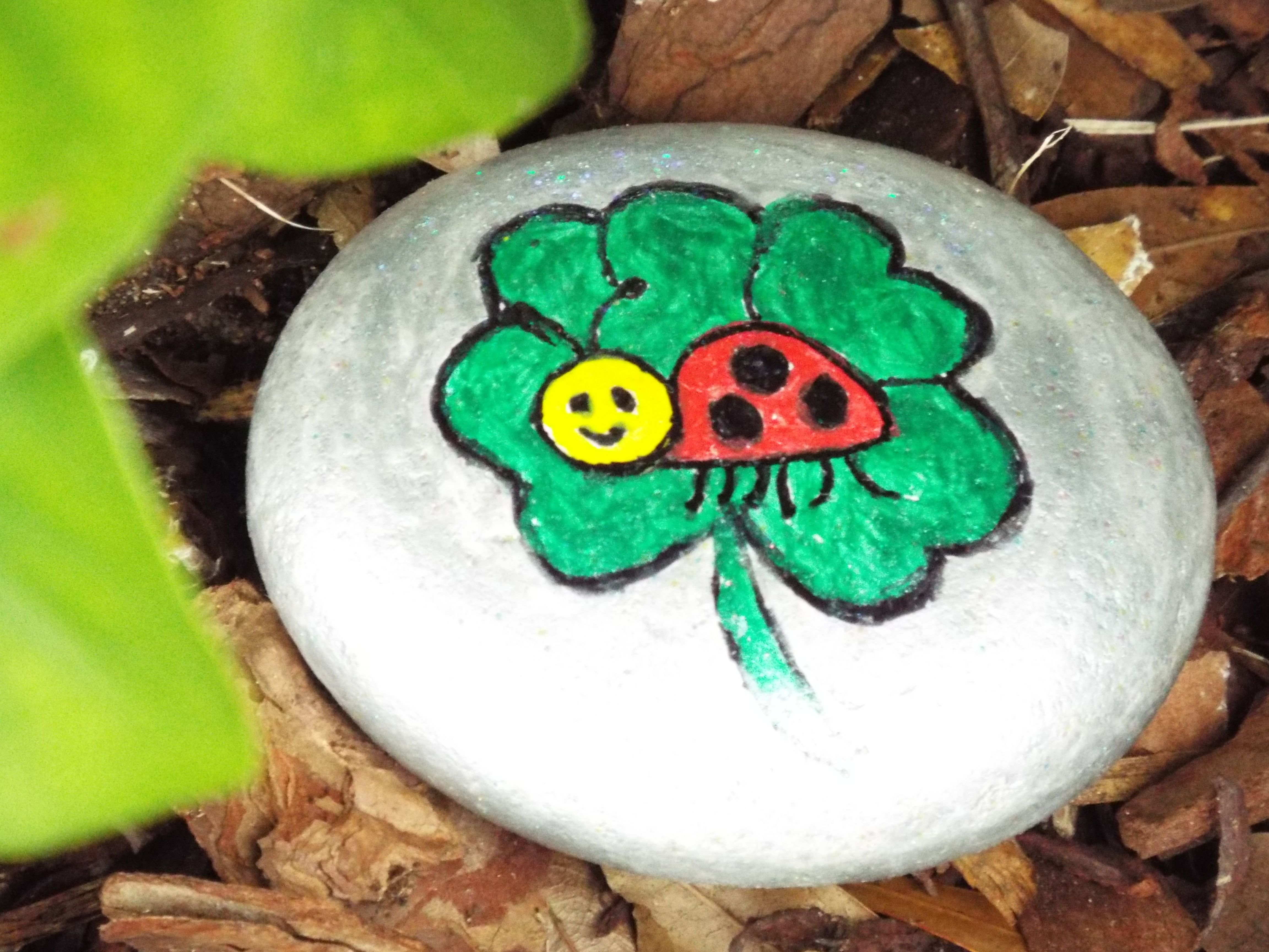 little ladybug  painted rocks ladybug painting