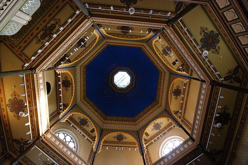 Cupola ceiling Synagogue Gyor Hungary - Cupola - Wikipedia, the free encyclopedia