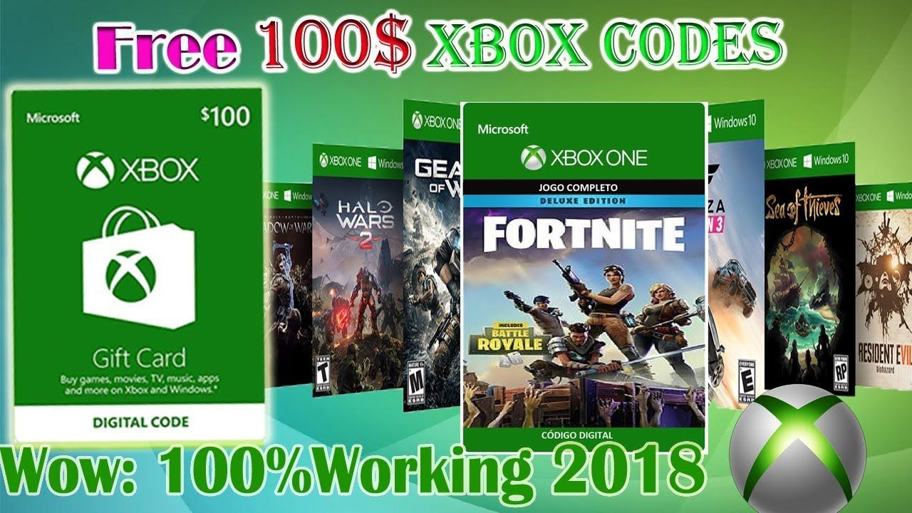 Free xbox gift card 2018 free xbox codes how to get