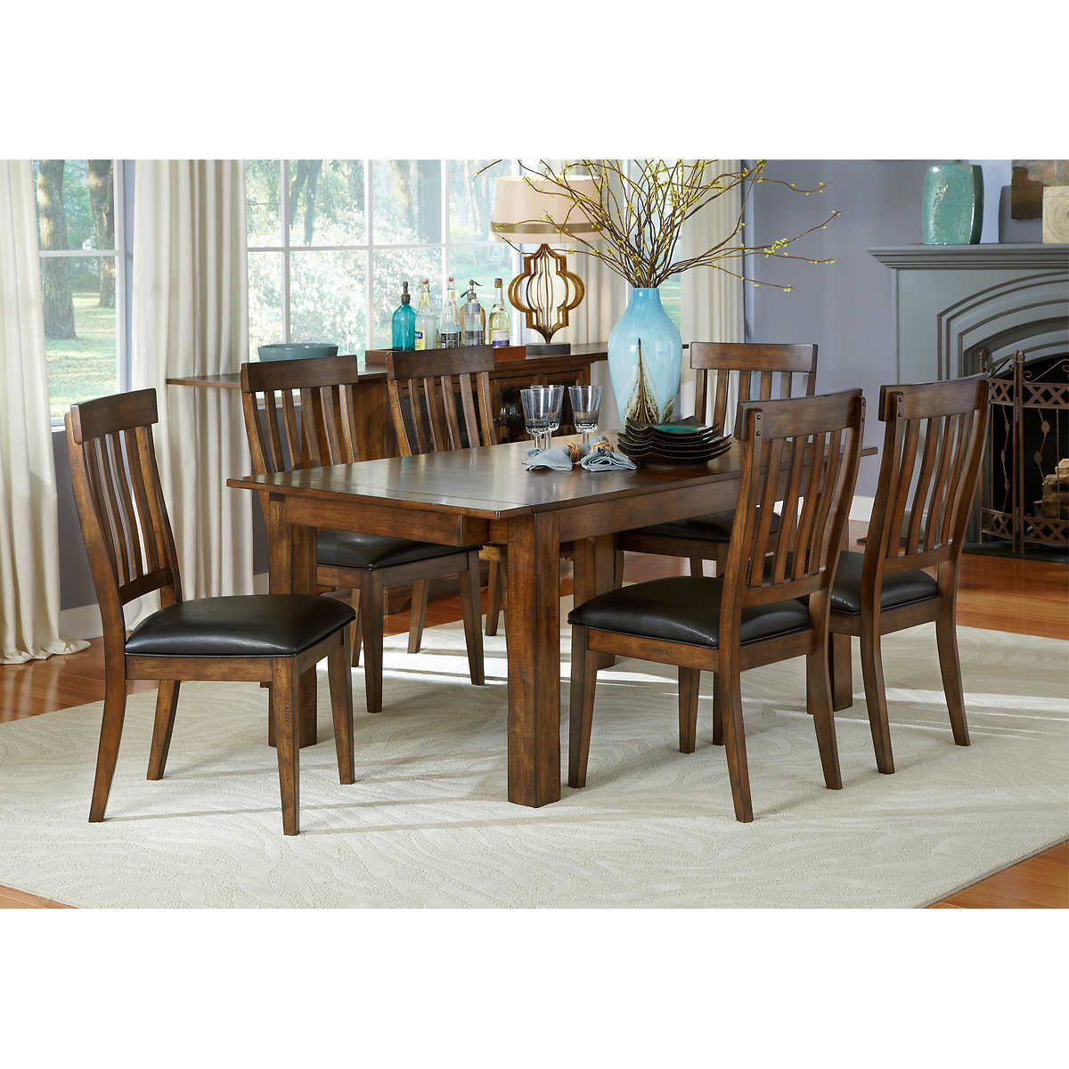 Medina 8Piece Dining Set Table Chairs Server  Costco Beauteous Dining Room Sets Costco Design Decoration