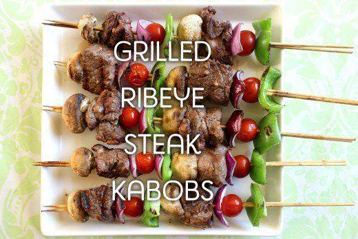 Grilled Ribeye Steak Kabobs