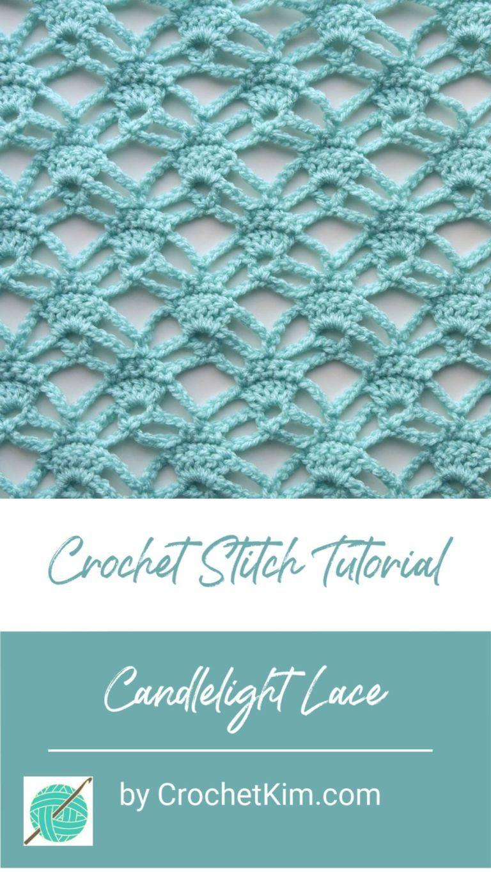 Candlelight Lace Free Crochet Stitch Tutorial #crochetstitchestutorial