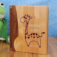Personalized baby boy giraffe photo album personalized gifts for personalized baby boy giraffe photo album negle Gallery
