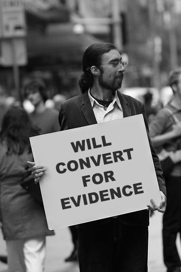 """I'll believe anything, no matter how wild and ridiculous, if there is evidence for it. The wilder and more ridiculous something is, however, the firmer and more solid the evidence will have to be."" Isaac Asimov #atheist #atheism"