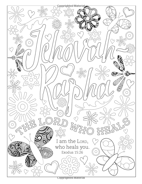 Amazon.com: Color the Names of God: An Adult Coloring Book for Your ...