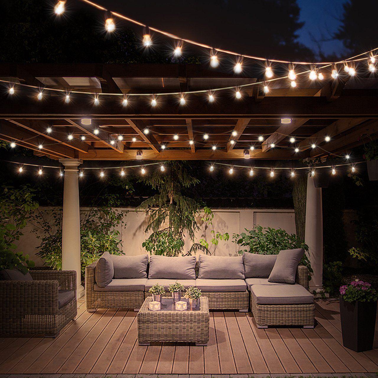 Light Clothesline With Vintage Lamp Clothesline Lamp Light Vintage Outdoor Patio Decor Backyard Patio Designs Patio Design