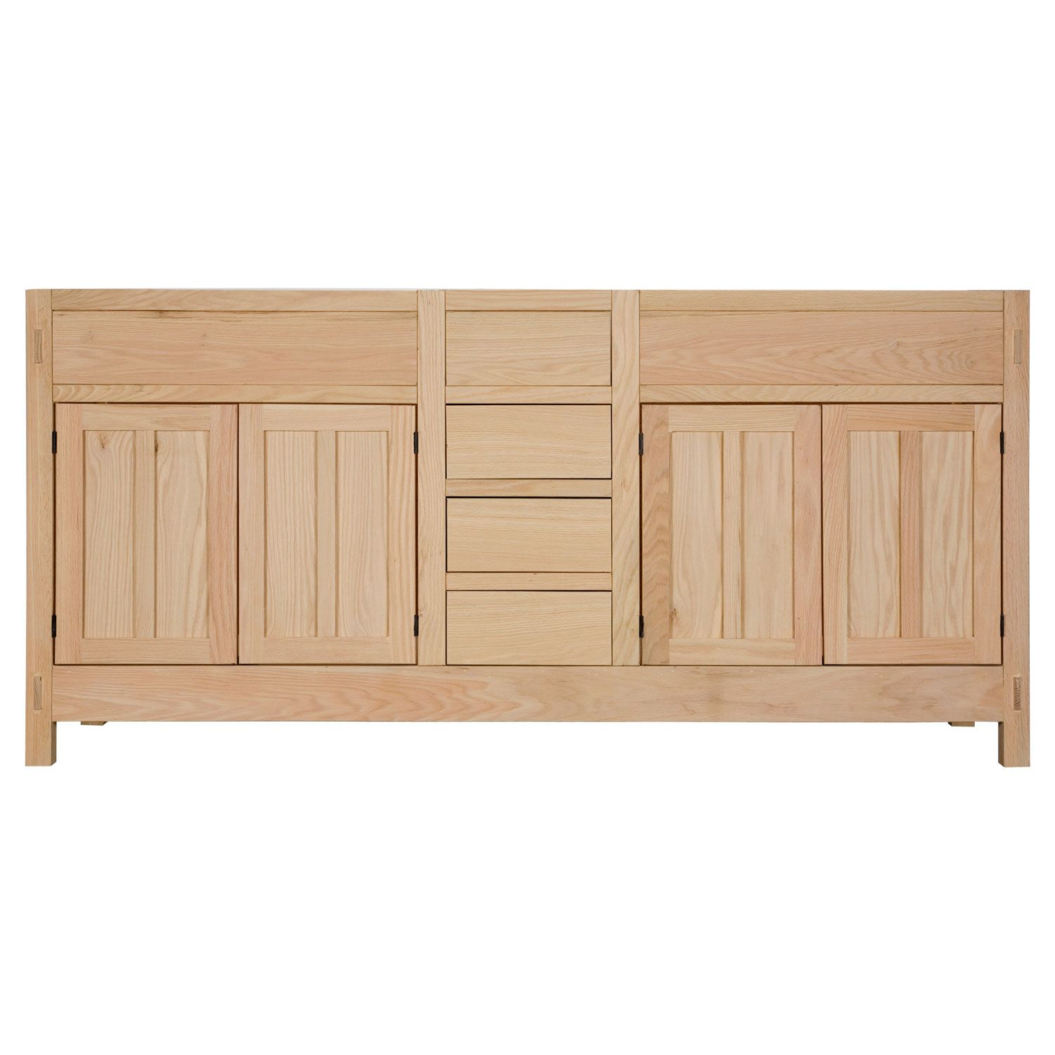"Bathroom Vanities Tampa 72"" unfinished mission hardwood vanity 