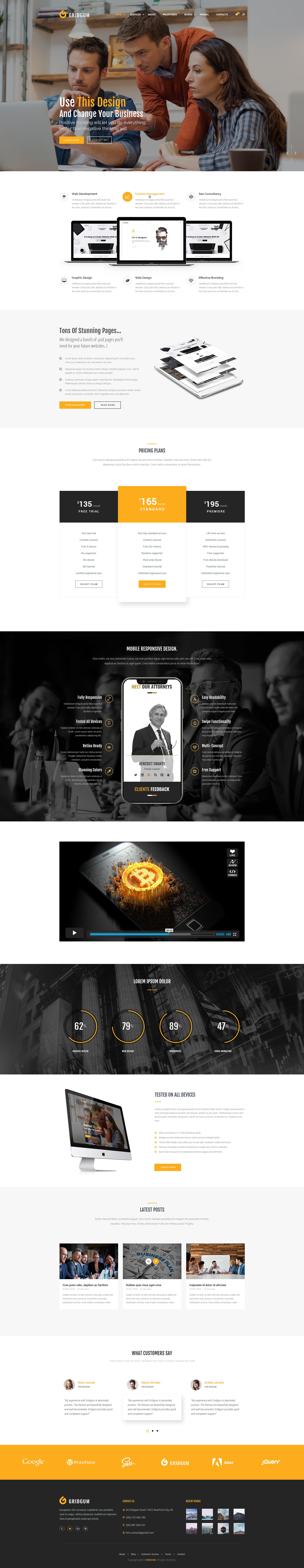 Free Psd Photoshop Website Template Free For Download For