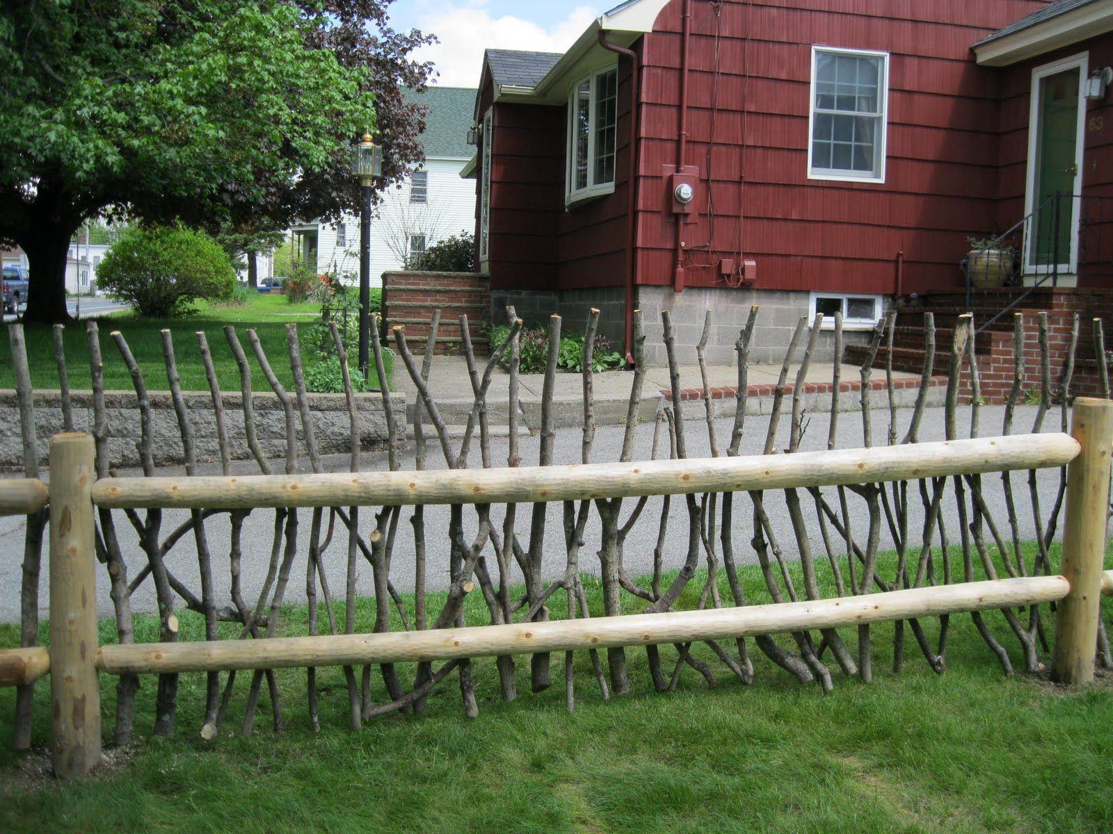 rustic fence rails