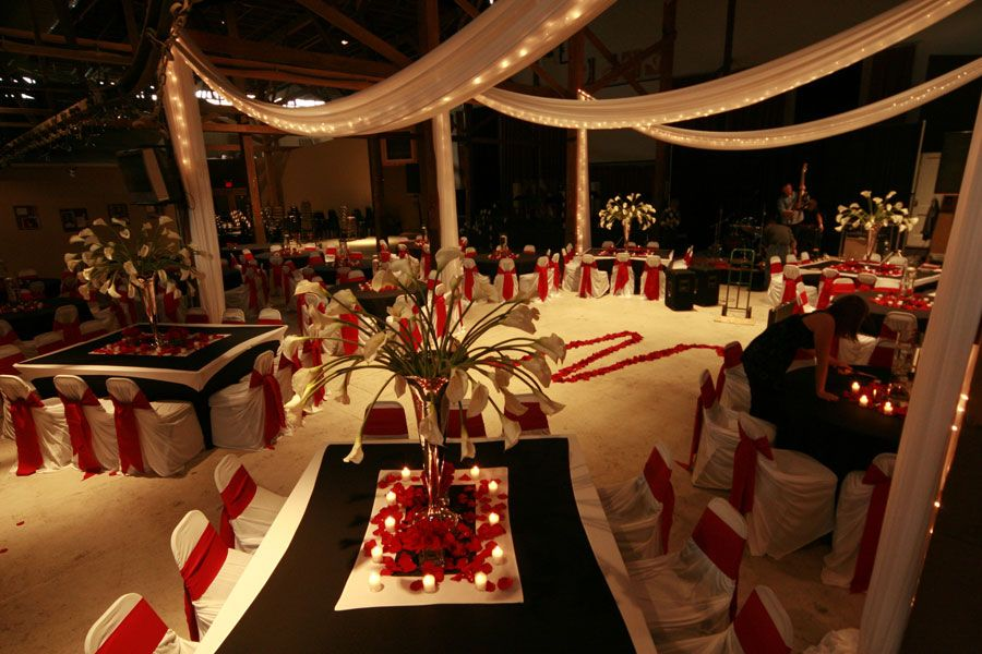 Red Black White Wedding Decor