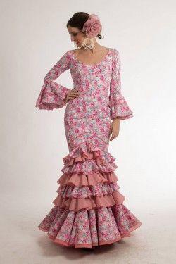 Traje de flamenca de Micaela Villa 2015: Jazmín Rosa.  190€