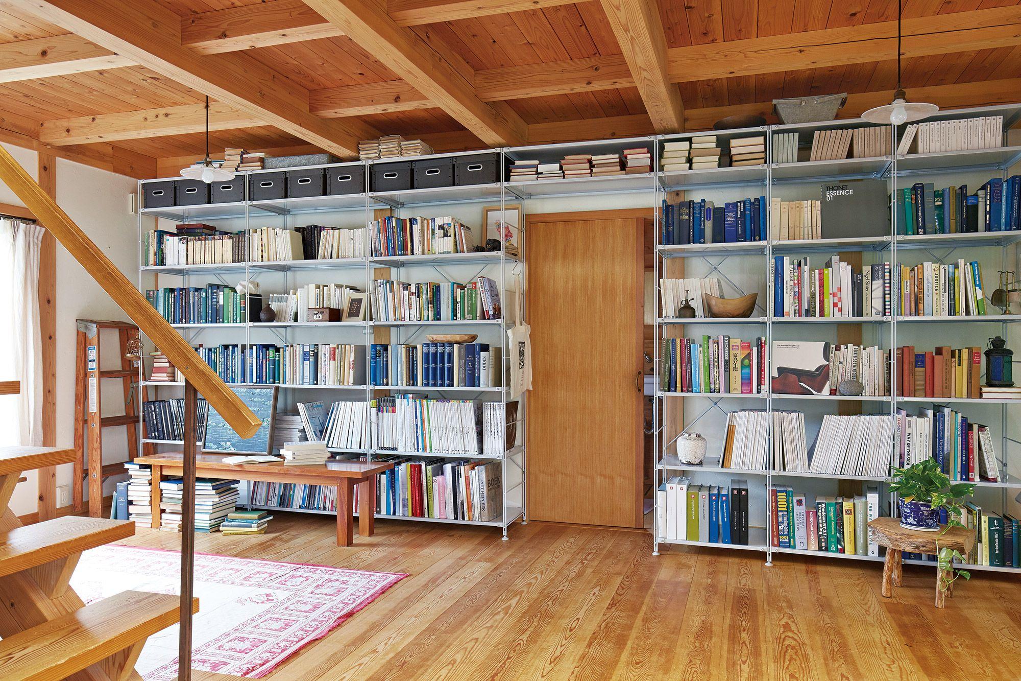 家の形に合わせる収納 ドアのデザイン 無印良品の家 無印良品 本棚
