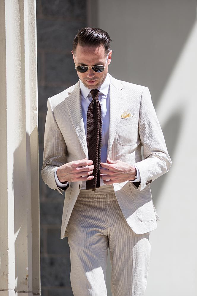 Spring Wedding | Saks made to measure seersucker suit | S T Y L E ...
