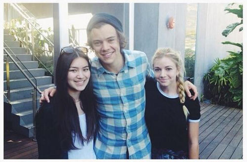 Harry with a fans