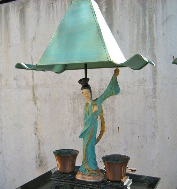 Mid century asian lamps pair asian lamps mid century and copper mid century asian lamps pair aloadofball Image collections