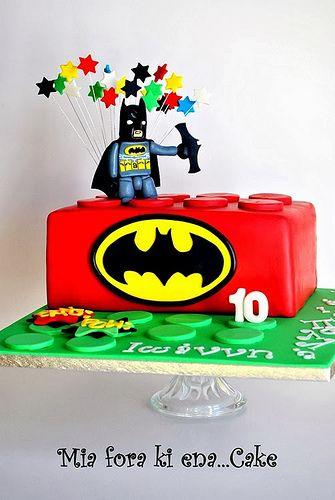 LEGO AND BATMAN CAKE Batman cakes Batman and Legos