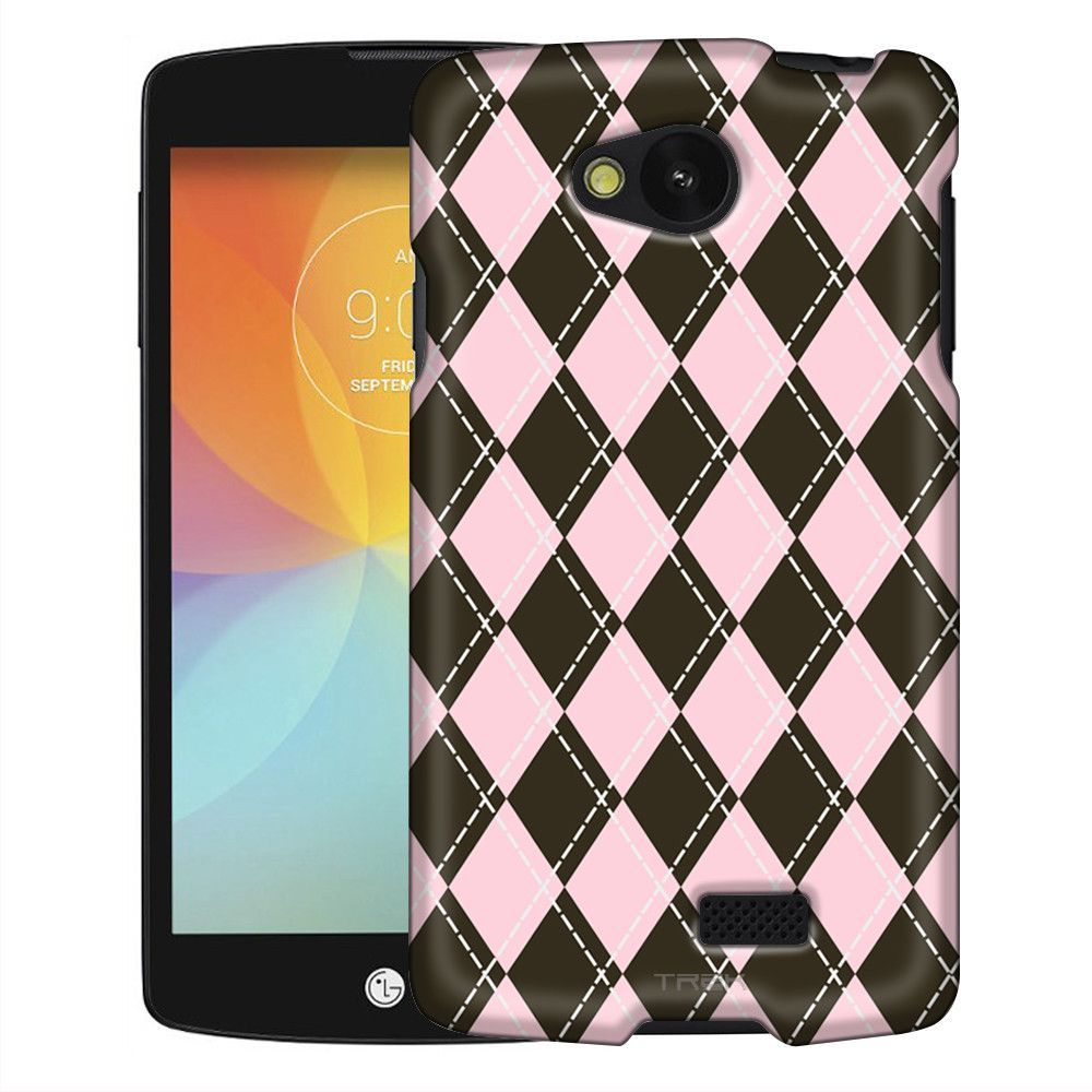 LG Optimus F60 Pink & Brown Aryle Slim Case