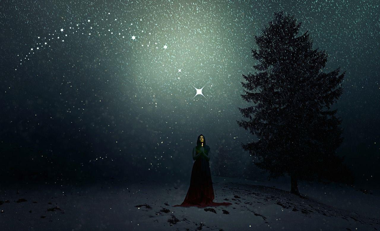 Free Image On Pixabay Winter Snowfall Woman Christmas