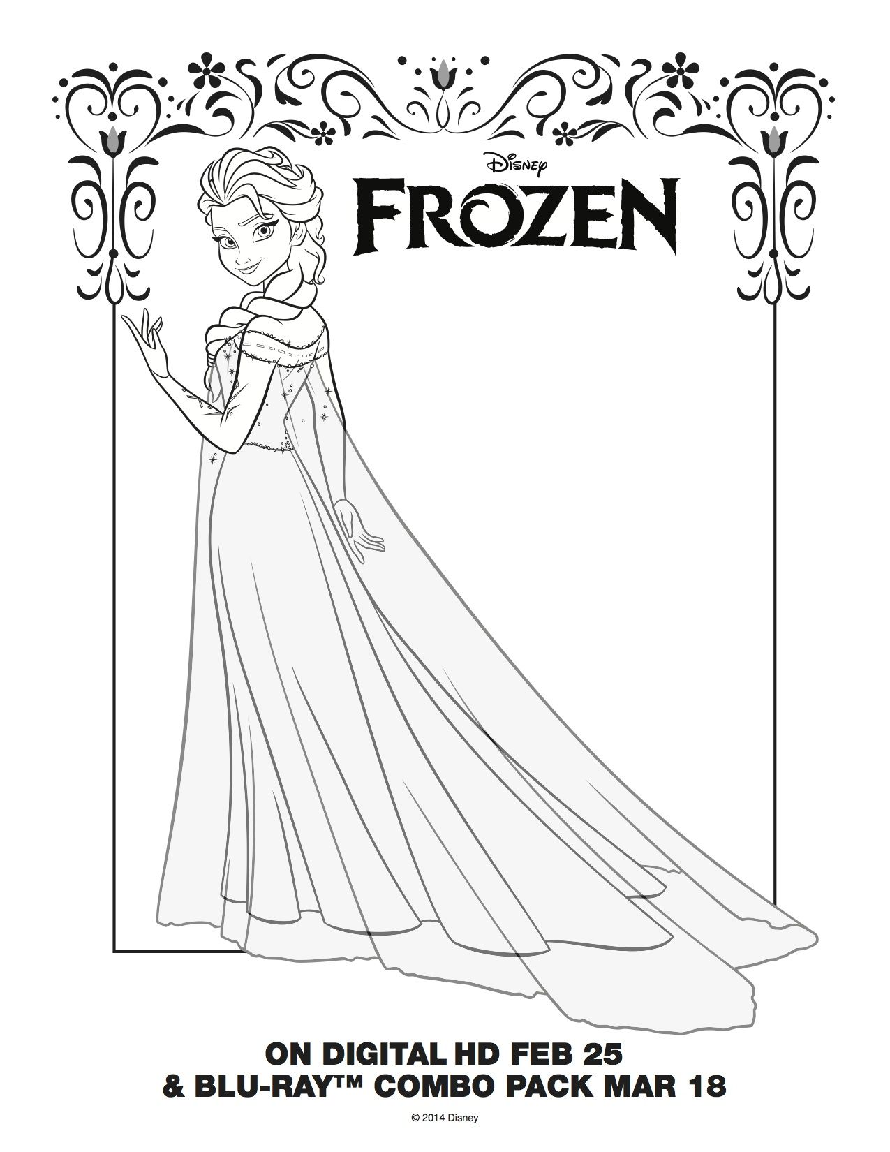 Coloring pages frozen - Elsa Coloring Pages Free Large Images