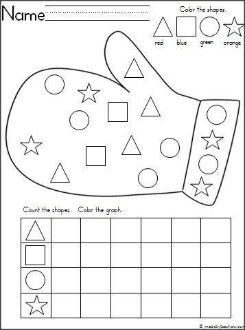winter mitten shape graph crafts and worksheets for preschool toddler and kindergarten find. Black Bedroom Furniture Sets. Home Design Ideas